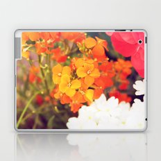 Orange Flowers Laptop & iPad Skin