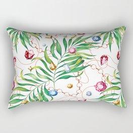 Glamorous Palm white Rectangular Pillow