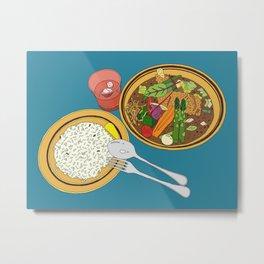 Yummy Soup Curry Metal Print