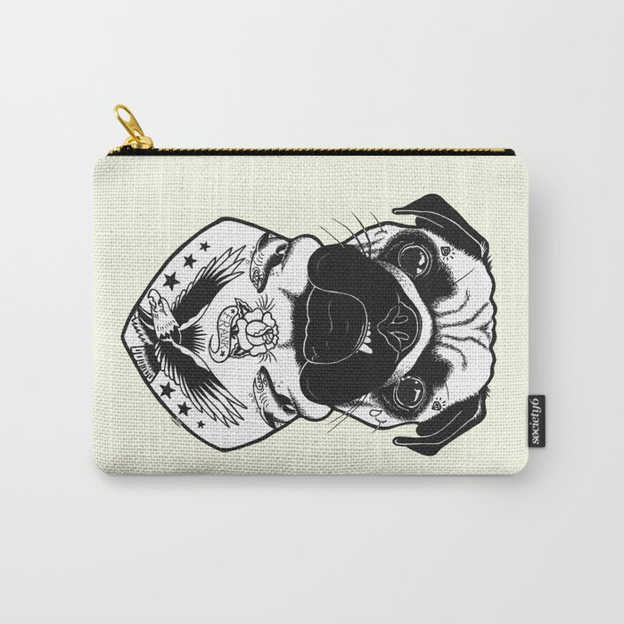 Dog - Tattooed Pug Carry-All Pouch