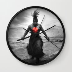 Courage of Samurai Wall Clock