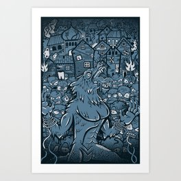 WOLVES OF PERIGORD Art Print