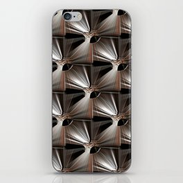 Metal Armour Screen Pattern iPhone Skin