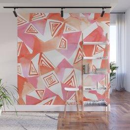 Geo Triangle Peach Wall Mural
