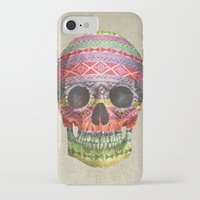 skull iPhone & iPod Cases featuring Navajo Skull  by Terry Fan