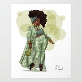 Curvy Tiana Art Print