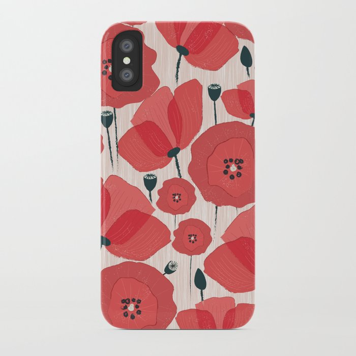 Poppies iPhone Case