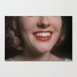 Hannah's Teeth Canvas Print