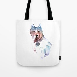 Wolf / Abstract animal portrait. Tote Bag