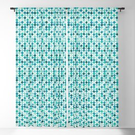 Midcentury Modern Dots Blue Blackout Curtain