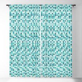 Midcentury Modern Dots Blue Blackout Curtain