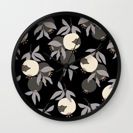 Seamless pattern with decorative pomegranates Wall Clock