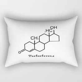 Testosterone Quote Art Design Inspirational Motiv Rectangular Pillow