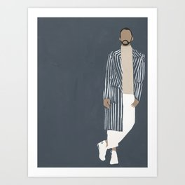 Pinstripe Duster Art Print