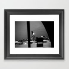 From the back of a cab Framed Art Print