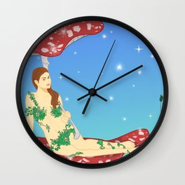 Fairy of Mushroom Wall Clock