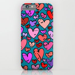 #MindfulHearts #faces iPhone Case