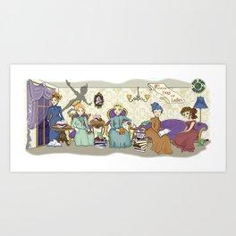 Victorian Frogs Art Print
