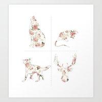 Mischief Managed Floral (1) Art Print