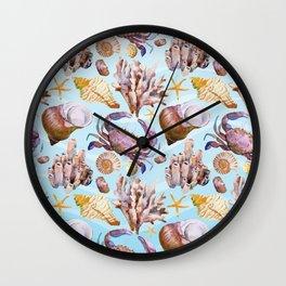Marine Pattern 14 Wall Clock