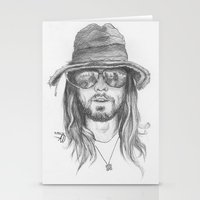 jared leto Stationery Cards featuring Jared Leto by alexandraverena