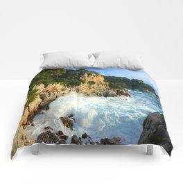 Winter Storm at Cap Ferrat Comforters