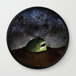 Asomandose Al Espacio Wall Clock