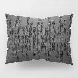 Eye of the Magpie tribal style pattern - dark grey Pillow Sham