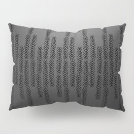 Eye of the Magpie tribal style pattern - dark grey Pillow Sham