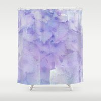 hydrangea Shower Curtains featuring hydrangea by clemm