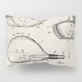Golf Driver Patent - Golf Art - Antique Pillow Sham