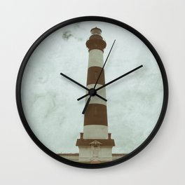 Bodie Lighthouse Glass Plate Effects Coastal Landscape Photograph Wall Clock