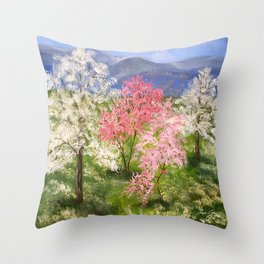 Springtime in Tennessee Throw Pillow