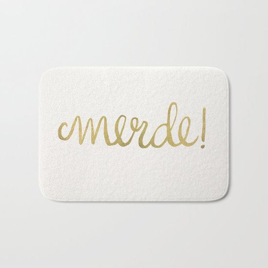 Pardon My French – Gold Ink Bath Mat
