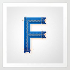 The Letter F Art Print