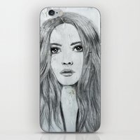 karen hallion iPhone & iPod Skins featuring Karen by Just Art by Lena Wennerström