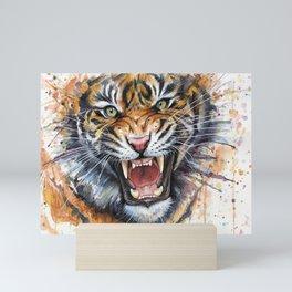 Tiger Roaring Wild Jungle Animal Mini Art Print