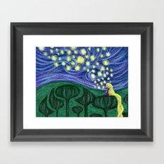 Impressionist Lanterns Framed Art Print