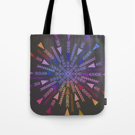 Multicolored geometric firework Tote Bag