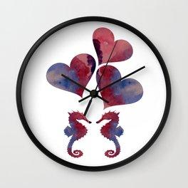 Seahorse Art Wall Clock