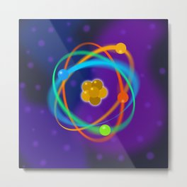 Atomic Structure Spots Metal Print