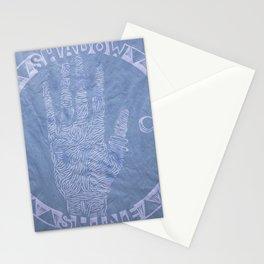 Close Reading: Shadow (4 of 4 : indigo) Stationery Cards
