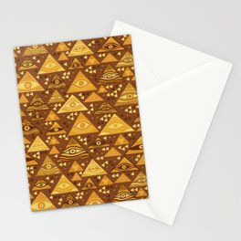 Klimt Triangles Stationery Cards