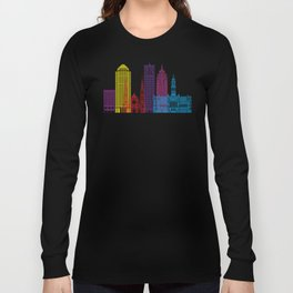Detroit V2 skyline pop Long Sleeve T-shirt