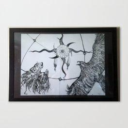 Zentangles in mind Canvas Print