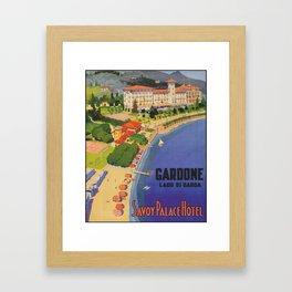 Gardone, Italy Vintage Travel Poster Framed Art Print