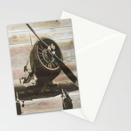 Old airplane 2 Stationery Cards
