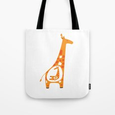 Pregnant Giraffe Tote Bag