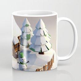 Log house in a winter scene Coffee Mug