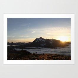 Awake for sunrise Art Print